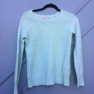 J. Crew mint green sweater | size small